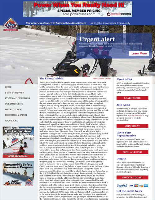 The Enemy Within - SnowTech Magazine, Spring, 2019 by Kevin Beilke, Editor