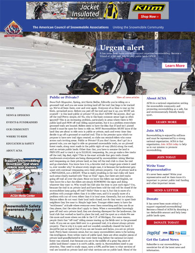 Public or Private? - SnowTech Magazine, Spring, 2017 by Kevin Beilke, Editor